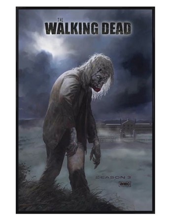 Gloss Black Framed Flesh Eating Walker! - The Walking Dead