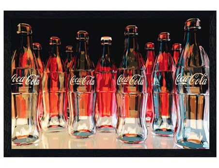 Black Wooden Framed Red Eleven - Coca Cola