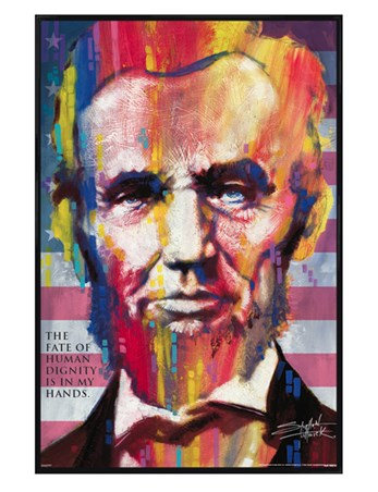 Gloss Black Framed Abraham Lincoln - Stephen Fishwick