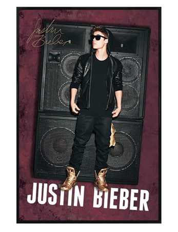 Gloss Black Framed The Power of Bieber - Justin Bieber