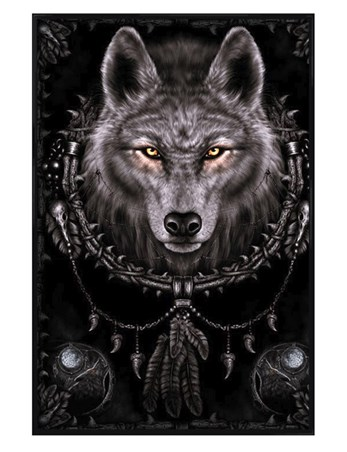 Gloss Black Framed Wolf Dreams - Spiral