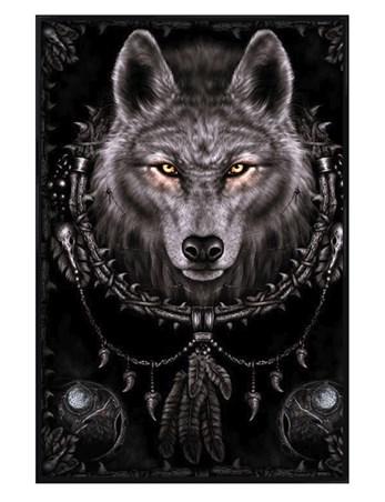 Framed Gloss Black Framed Wolf Dreams - Spiral