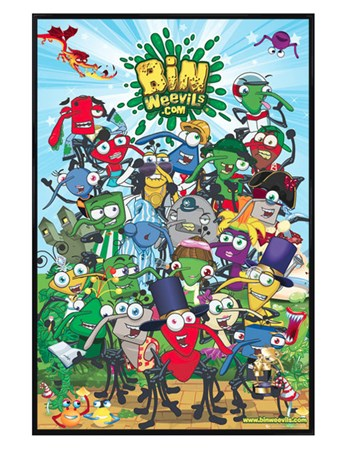 Gloss Black Framed The Online World of The Bin Weevils - Bin Weevils