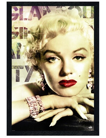 Black Wooden Framed Glamour - Marilyn Monroe