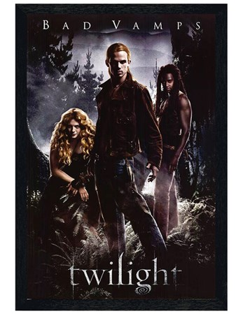 Black Wooden Framed Bad Vamps - Twilight