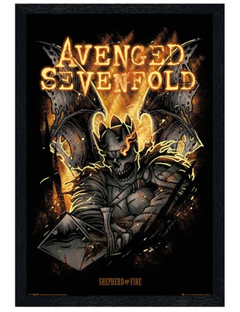 Black Wooden Framed Shepherd of Fire - Avenged Sevenfold