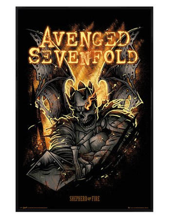Gloss Black Framed Shepherd of Fire - Avenged Sevenfold