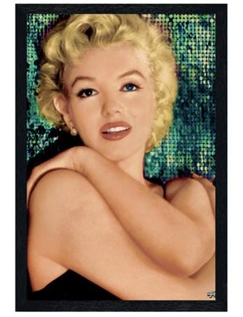 Black Wooden Framed Unspoilt Beauty - Marilyn Monroe