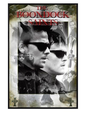 Gloss Black Framed Thy Kingdom Come, Thy Will Be Done - The Boondock Saints