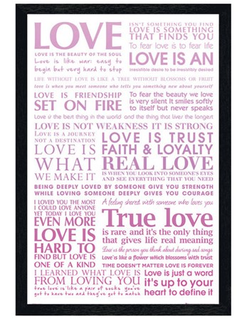 Black Wooden Framed Love Is..... - True Love