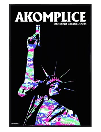Gloss Black Framed Statue of Liberty - Akomplice
