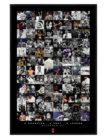 Gloss Black Framed Boxing Legend Compilation - Muhammad Ali