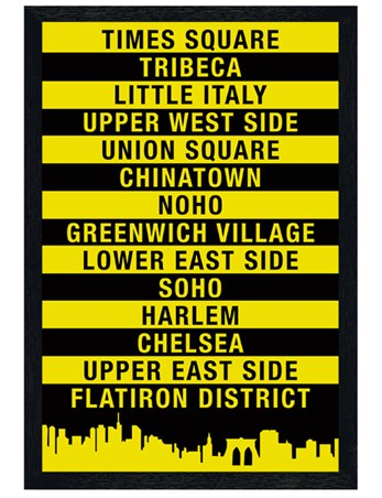 Black Wooden Framed Signs of The Big Apple - New York City