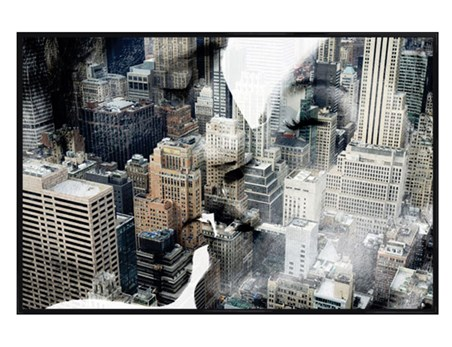 Gloss Black Framed New York Romance - New York