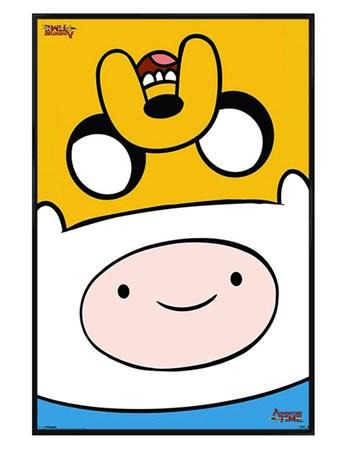 Gloss Black Framed Finn & Jake Flip! - Adventure Time