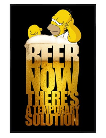Gloss Black Framed Beer; A Temporary Solution - The Simpsons