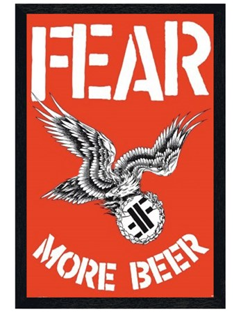 Black Wooden Framed Fear - More Beer