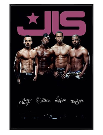 Gloss Black Framed Six Pack Legends - JLS