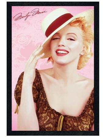 Black Wooden Framed A Very Stylish Icon - Marilyn Monroe