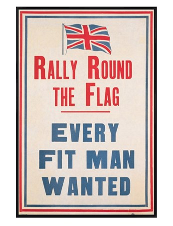 Gloss Black Framed Rally Round the Flag - Every Fit Man Wanted