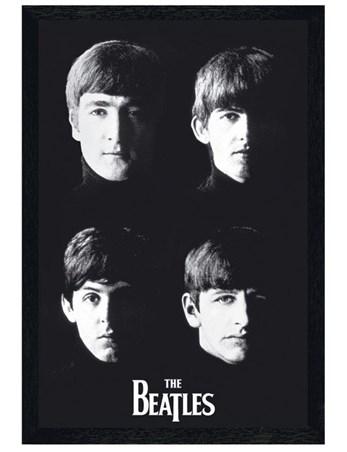 Framed Black Wooden Framed Liverpool Lads - The Beatles