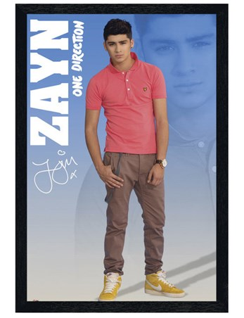 Black Wooden Framed Zayn - One Direction