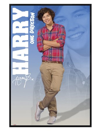 Gloss Black Framed Harry - One Direction
