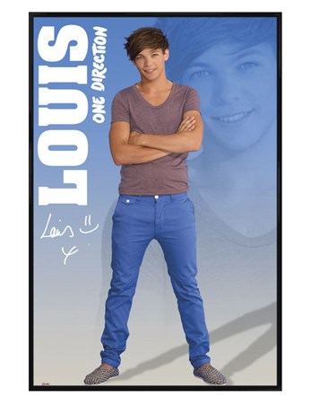 Gloss Black Framed Louis - One Direction