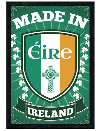 Black Wooden Framed Made in Eire - Irish Pride