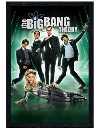 Black Wooden Framed Barberella - The Big Bang Theory