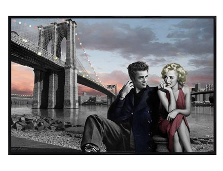 Gloss Black Framed Brooklyn Nights - Jadei