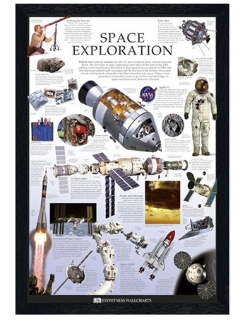 Black Wooden Framed Space Exploration - Dorling Kindersley