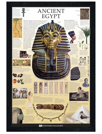 Black Wooden Framed Ancient Egypt - Dorling Kindersley