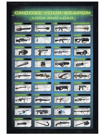Black Wooden Framed Choose Your Weapon - Gaming Lock and Load