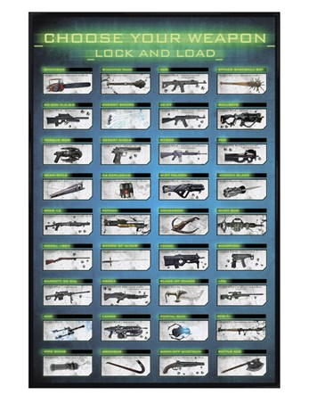 Gloss Black Framed Choose Your Weapon - Gaming Lock and Load