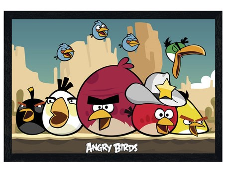 Black Wooden Framed The Sheriff has Arrived! - Angry Birds