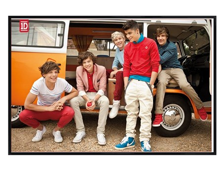 Gloss Black Framed Camper Van Boys - One Direction