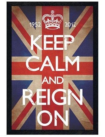Black Wooden Framed Keep Calm & Reign On - Keep Calm & Carry On
