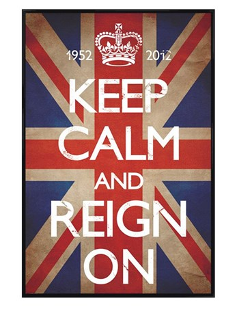 Gloss Black Framed Keep Calm & Reign On - Keep Calm & Carry On