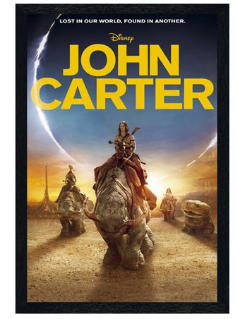 Framed Black Wooden Framed Lost in Our World, Found in Another - Disney's John Carter