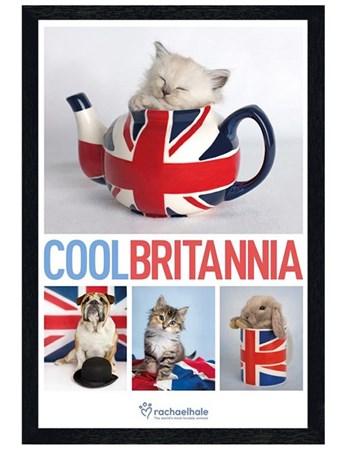 Black Wooden Framed Cool Britannia - Rachael Hale