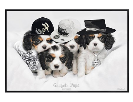 Gloss Black Framed Gangsta Pups - Keith Kimberlin