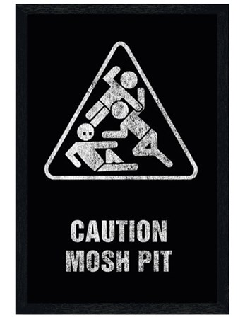 Black Wooden Framed Mosh Pit - Art Worx