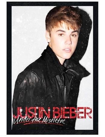 Black Wooden Framed Under the Mistletoe - Justin Bieber