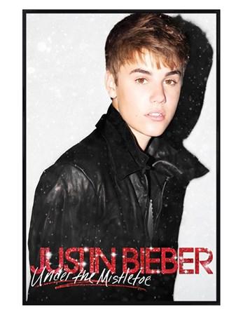 Framed Gloss Black Framed Under the Mistletoe - Justin Bieber