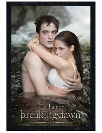 Black Wooden Framed Honeymoon Perfection - Twilight: Breaking Dawn