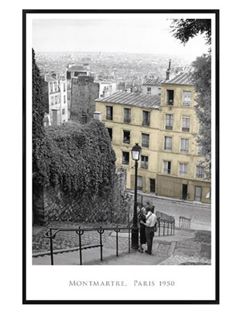 Gloss Black Framed Monmartre - Paris, 1950