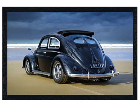 Black Wooden Framed Splitty - VW Californian