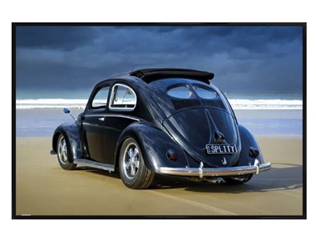 Gloss Black Framed Beetle - Retro VW