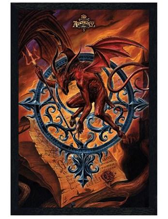 Black Wooden Framed Astrolabeus - Alchemy Gothic